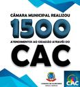 Câmara realiza 1500 atendimentos pelo CAC