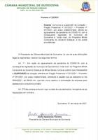 COMUNICADO DE SUSPENSÃO DA LICITAÇÃO - PREGÃO PRESENCIAL 01/2021