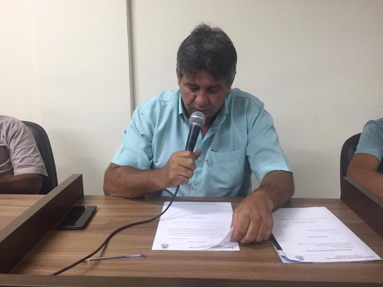 Parlamentar solicita asfaltamento da estrada do Cruzeiro